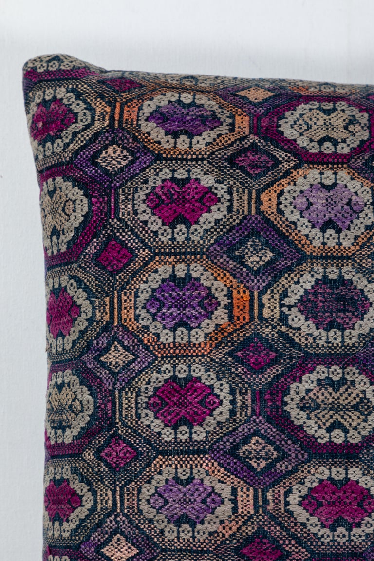 Embroidered Vietnamese Hill Tribe Brocade Pillow For Sale