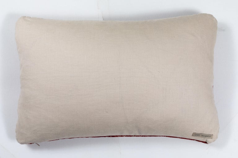 19th Century Antique Moroccan Fez Embroidered Pillow  For Sale