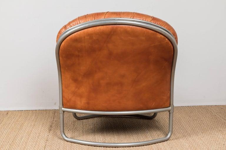 1969 Carlo DiCarli Chair and Ottoman For Sale 1