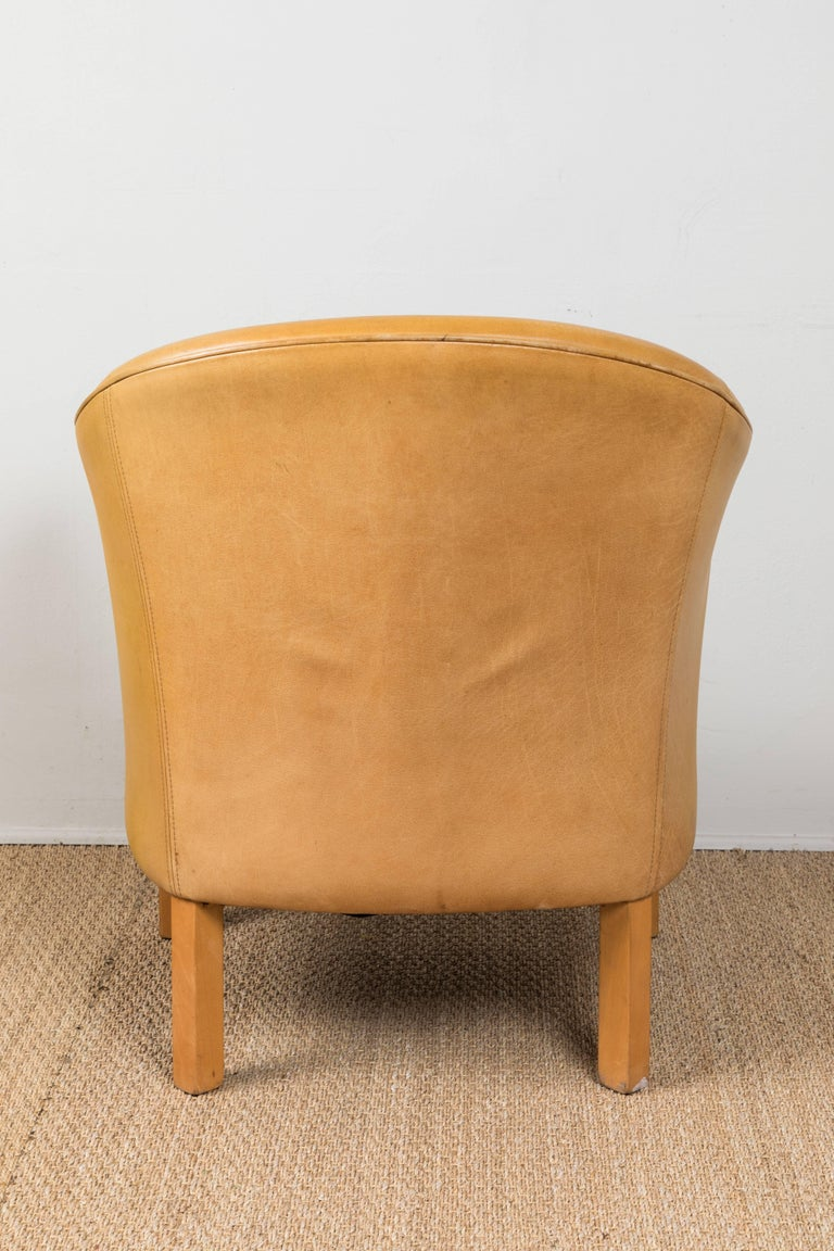 Vintage Leather Occasional Chairs For Sale 3