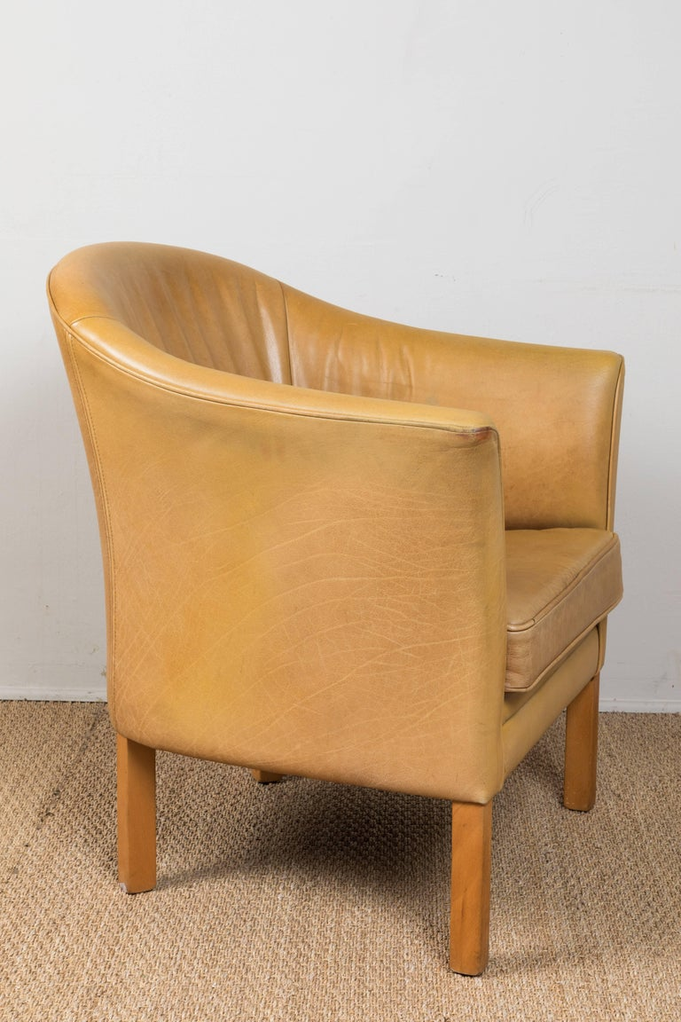 Vintage Leather Occasional Chairs For Sale 2
