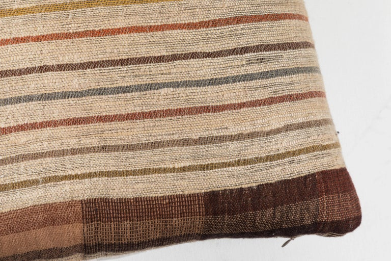 Hand-Woven Memo Indian Handwoven Pillow For Sale