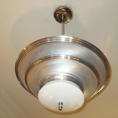"""Art Deco """"Saturn"""" Hanging Lamp"""