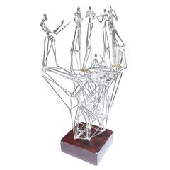 Blown Glass Jazz Band Orchestra Sculpture