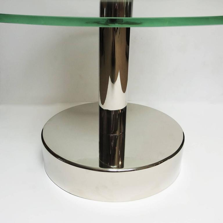 Art Deco Glass and Steel Side Tables in the Manner of Gio Ponti 5
