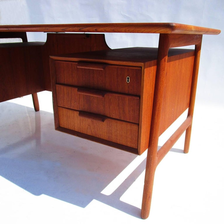 Danish Modern Mid-Century Teak Desk by Gunni Omann 3