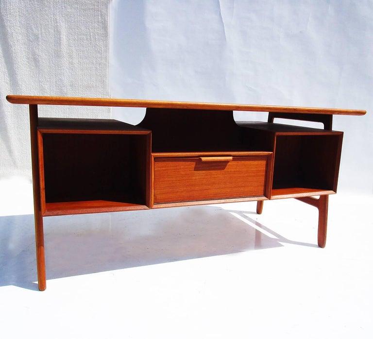 Danish Modern Mid-Century Teak Desk by Gunni Omann 5