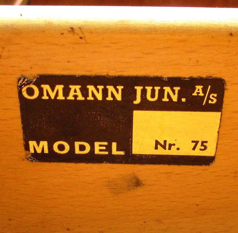 Danish Modern Mid-Century Teak Desk by Gunni Omann 7