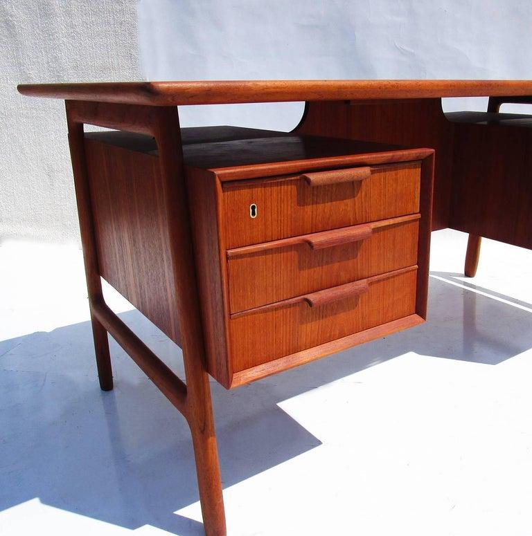 Mid-Century Danish Teak Desk by Gunni Omann 2