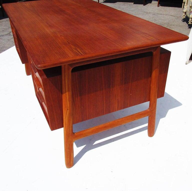 Mid-Century Danish Teak Desk by Gunni Omann 3