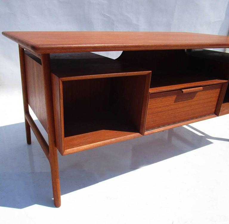 Mid-Century Danish Teak Desk by Gunni Omann 4