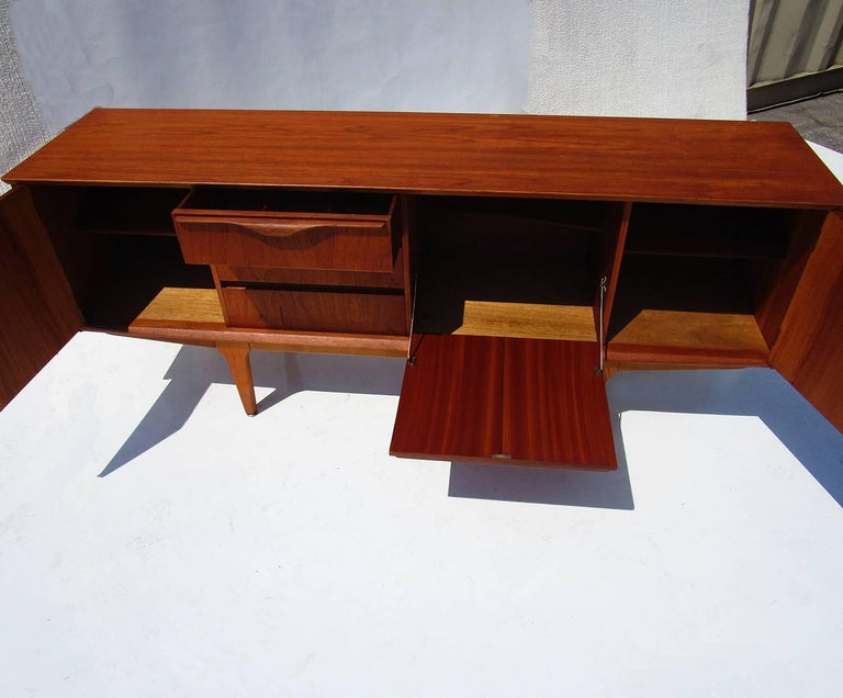 Lacquered Danish Mid-Century Modern Teak Sideboard For Sale