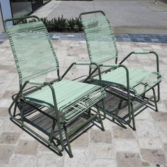 Mid Century Patio Glider Chairs by Mallin Co. of California