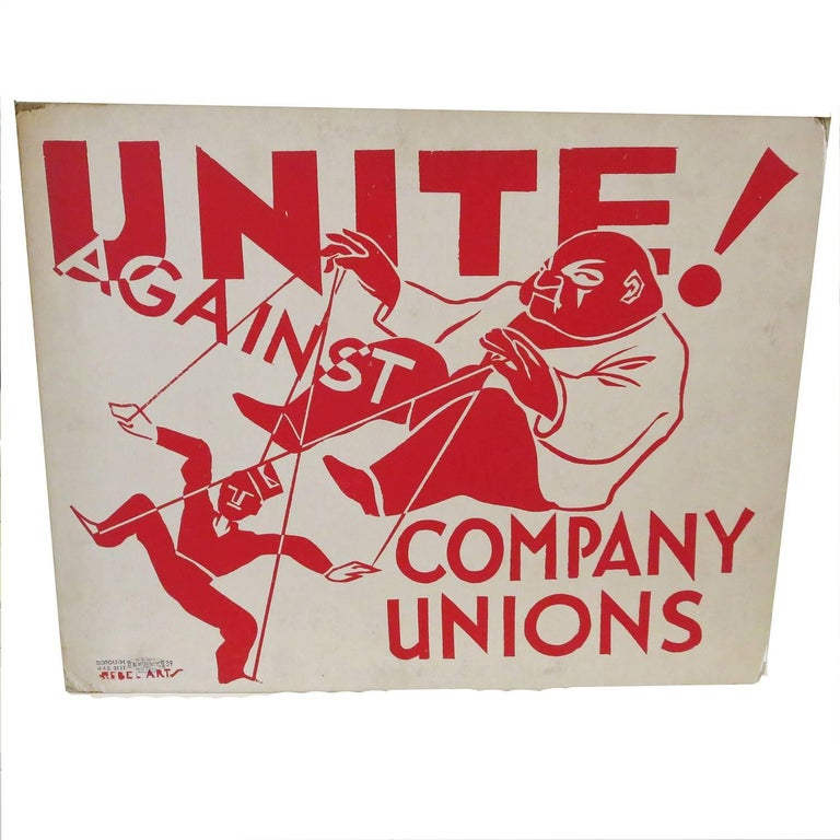"Socialist Party Poster ""Unite"" by Rebel Arts Group, New York, 1936"