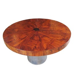 Paul Evans Dining Table - Cityscape Burled Wood and Stainless Steel