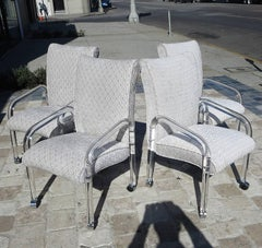 Leon Rosen Lucite Armchairs for Pace - 1970's