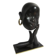 Art Deco African Head Sculpture by Karl Hagenauer