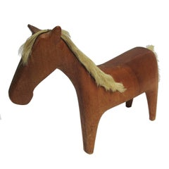 Midcentury Wooden Horse Sculpture by Hagenauer