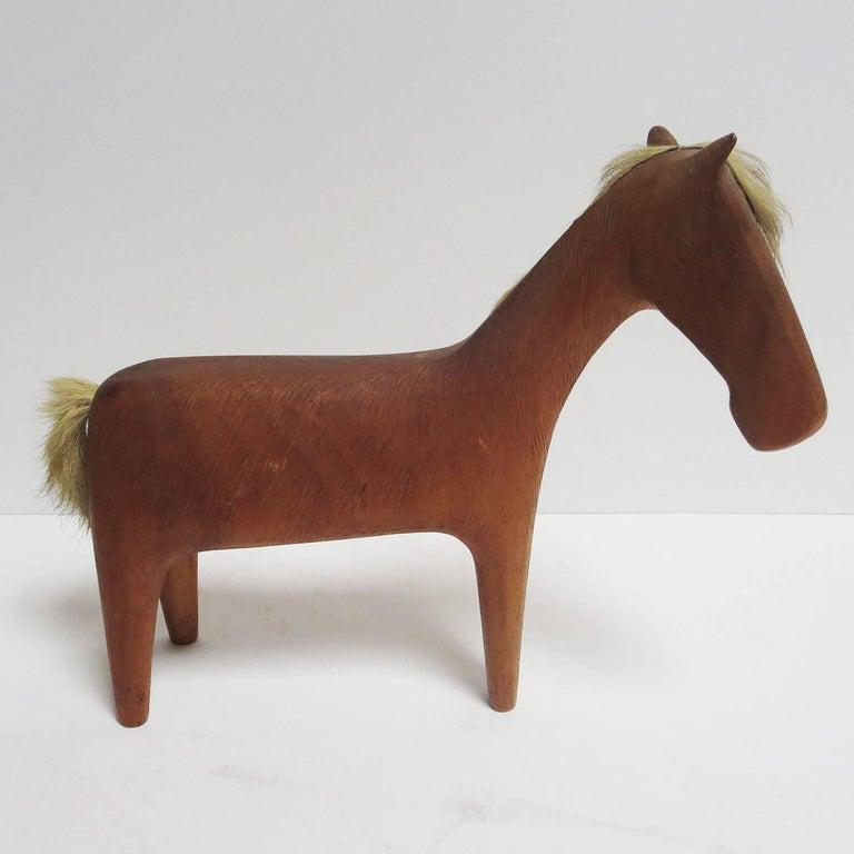 Austrian Midcentury Wooden Horse Sculpture by Hagenauer For Sale