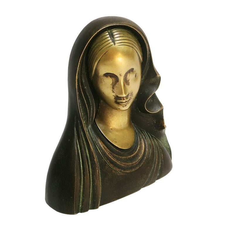 Art Deco Madonna Virgin Mary Sculpture by Karl Hagenauer