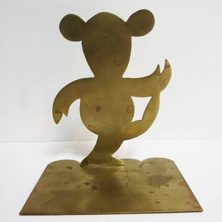 Art Deco Bronze Mouse Bookends Attributed to Hagenauer For Sale 1