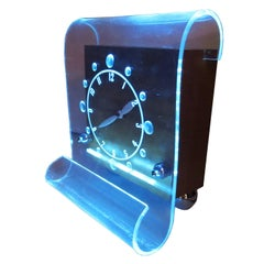 "1946 Lackner ""Scroll"" Desktop Neon Clock"