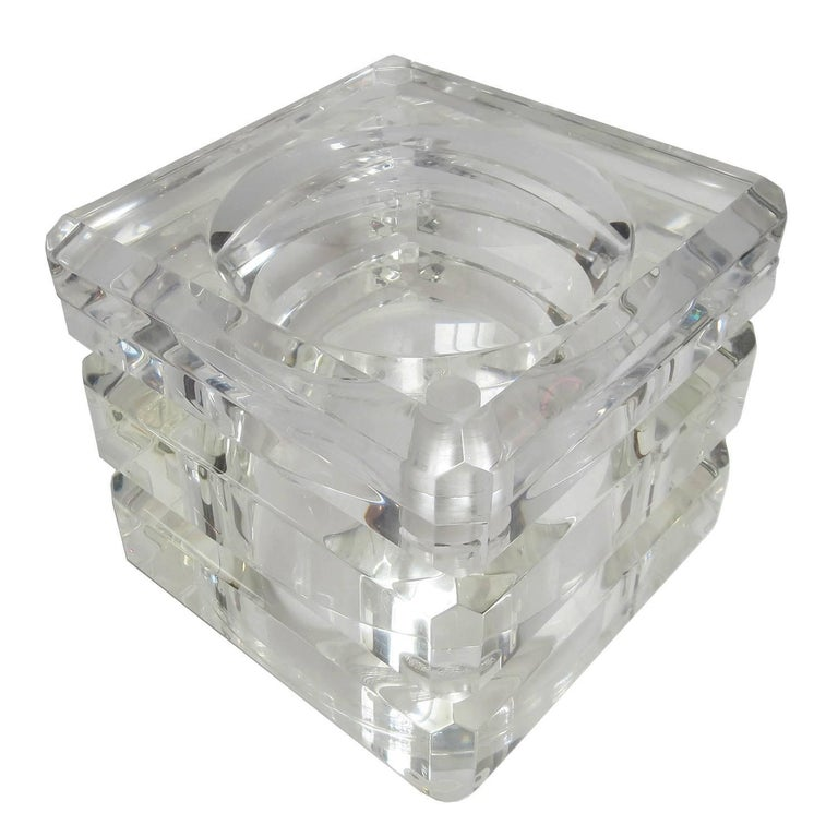 Lucite Ice Bucket by Alessandro Albrizzi For Sale