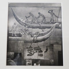 Art Deco Original Framed Photo from SS Normandie, signed Jean Dunand