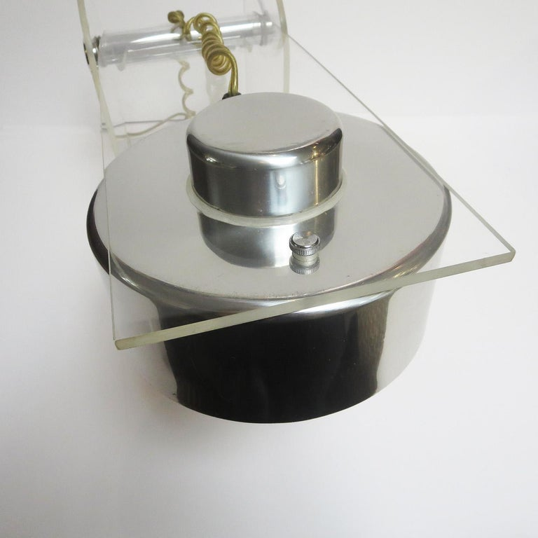 American Lucite and Chrome Table or Desk Lamp For Sale