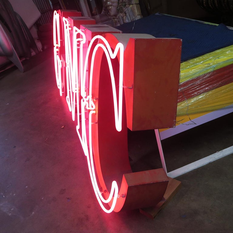 GMC Automobiles Dealership Neon Sign In Fair Condition For Sale In Los Angeles, CA