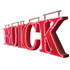 Buick Automobiles Dealership Neon Sign