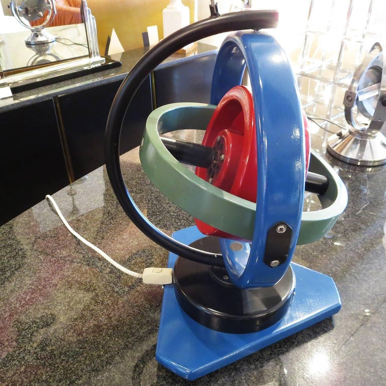 Industrial Painted Oversize Gyroscope Classroom Display Model For Sale