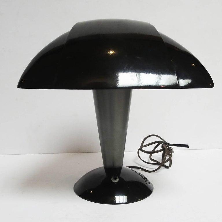 Cast Art Deco Polaroid Desk Lamp by Walter Dorwin Teague, 1939 For Sale