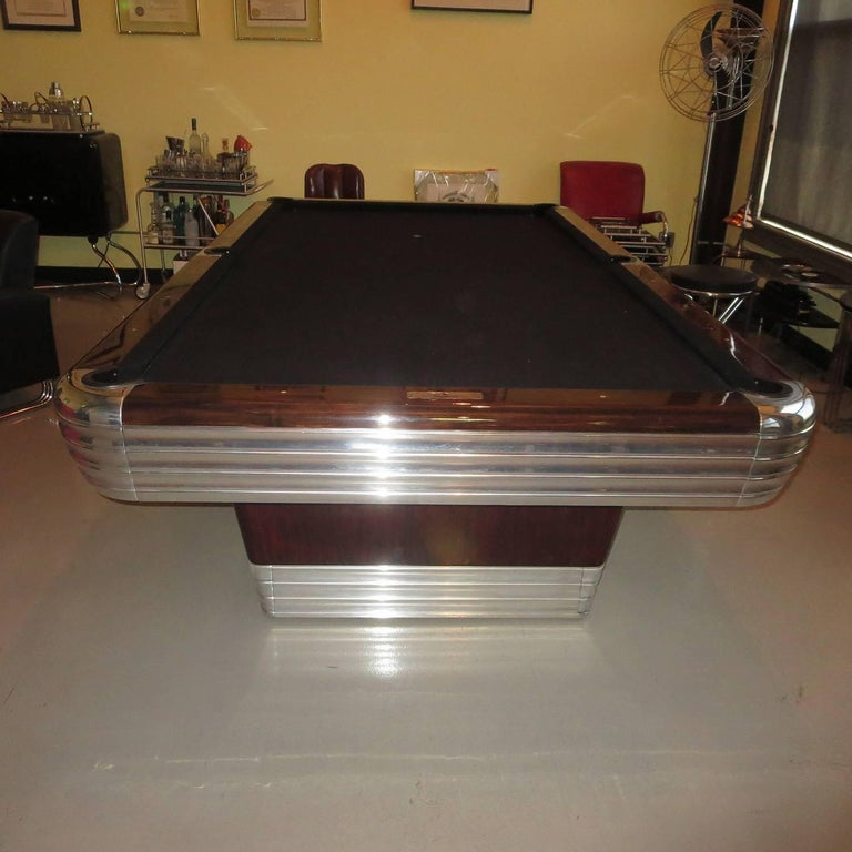 Mid-20th Century Art Deco Refinished Brunswick Centennial Pool Table For Sale