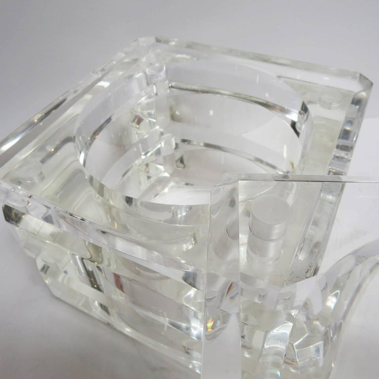 Late 20th Century Lucite Ice Bucket by Alessandro Albrizzi For Sale