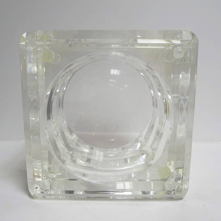 Lucite Ice Bucket by Alessandro Albrizzi For Sale 1