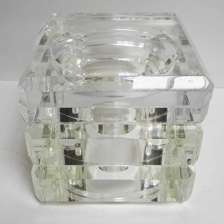 Lucite Ice Bucket by Alessandro Albrizzi For Sale 2
