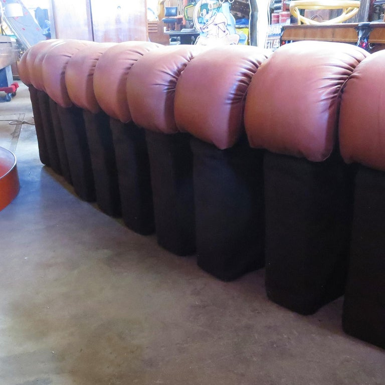 Late 20th Century De Sede DS-600 Non Stop Leather Sofa, 16 Sections For Sale