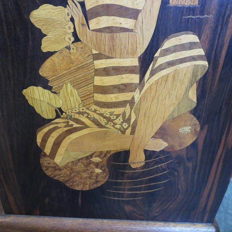 Art Deco Showcase in Macassar Ebony and Inlaid Woods For Sale 2