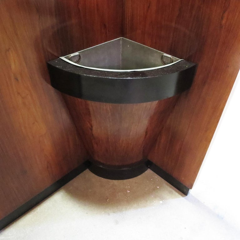 American Art Deco Entry Hall Tree with Mirrors and Umbrella Stand For Sale