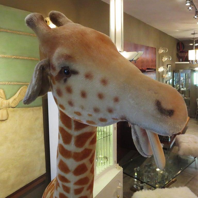 Mid-Century Modern Steiff Display Giraffe For Sale