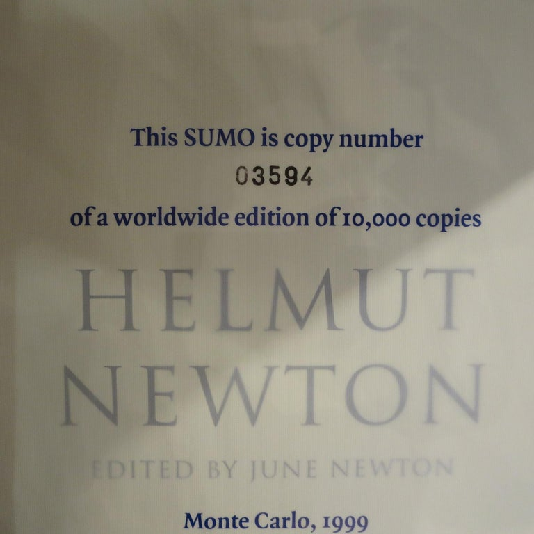 Monacan Helmut Newton Sumo Book on Philippe Starck Chrome Stand For Sale