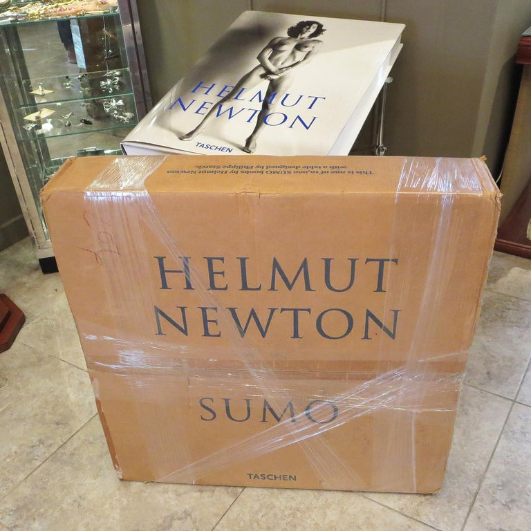 Late 20th Century Helmut Newton Sumo Book on Philippe Starck Chrome Stand For Sale