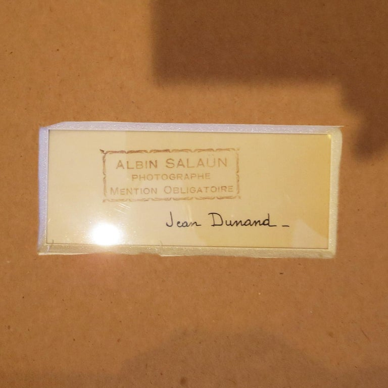 Mid-20th Century Art Deco Original Framed Photo from SS Normandie, Signed Jean Dunand For Sale