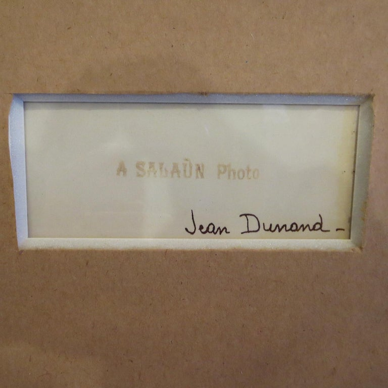 Mid-20th Century Art Deco Framed Photo from SS Normandie Signed Jean Dunand For Sale
