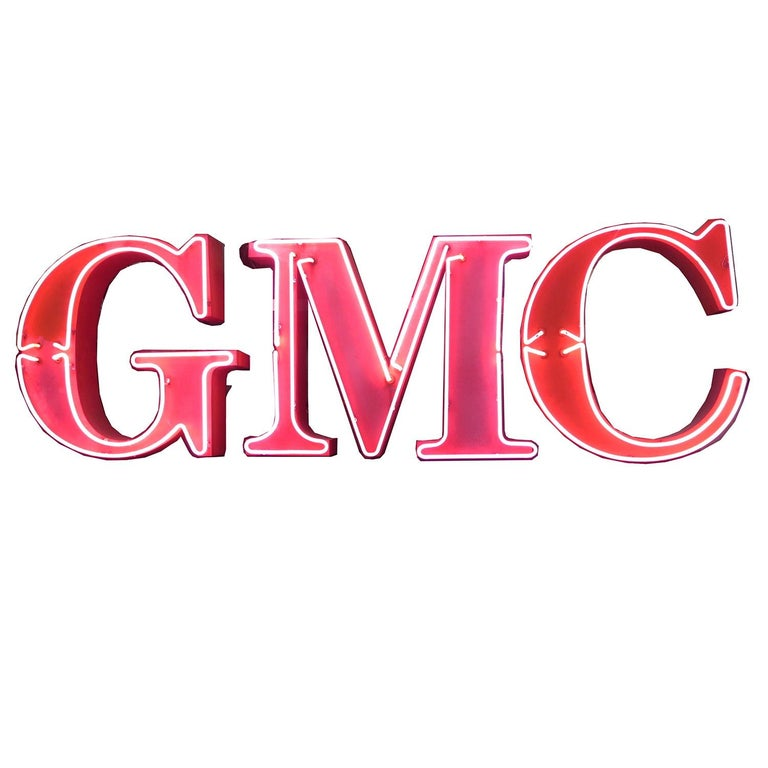 GMC Automobiles Dealership Neon Sign For Sale
