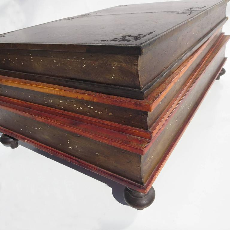 Best Vintage Coffee Table Books: 1960s Italian Leather Books Coffee Table At 1stdibs
