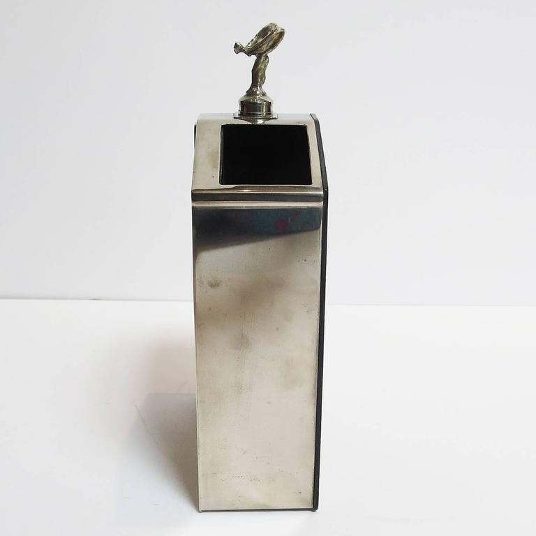 Mid Century Modern Rolls Royce Grille Desktop Pen Holder For