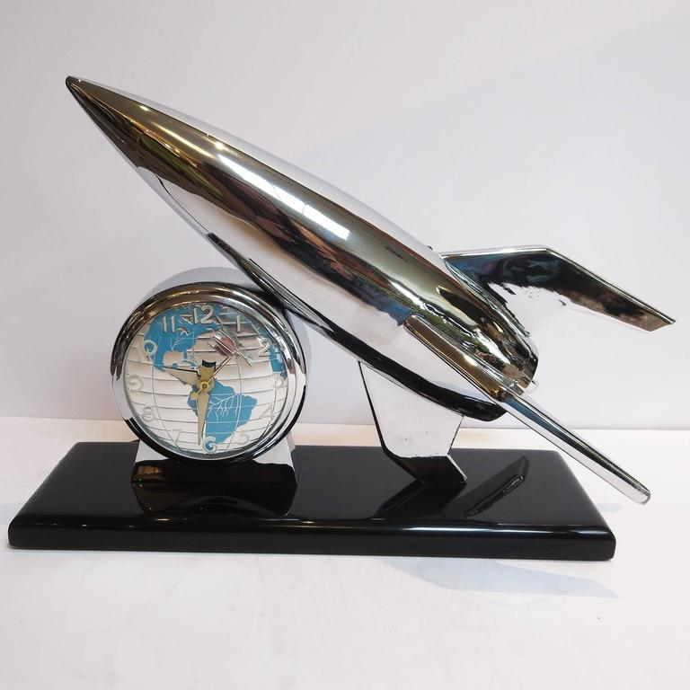 Restored 1950 S Lanshire Rocket Clock And Night Light At