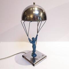 "Art Deco ""Novelty Parachute Jumper Lamp"" by Premium Products"
